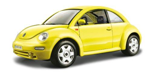Bburago Volkswagen New Beetle Diecast Model Car (1/24 Scale), Yellow