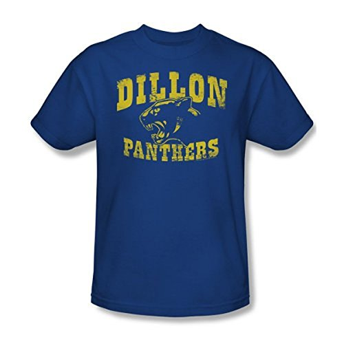 - Friday Night Lights Dillon Panthers Distressed Royal Blue Adult T-shirt Tee (Adult X-Large)