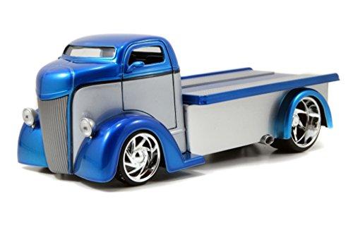 Jada 1947 Ford COE Flatbed Bigtime Kustoms 1:24 Scale (Blue over Grey) -  Jada Toys, 96959r-bk