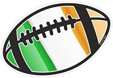 Balón de Rugby Motivo con Irlandés Irlanda Irl Bandera para Rugby ...