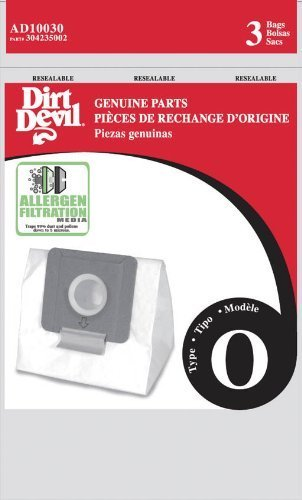Dirt Devil Type O Allergen Vacuum Bags (9-Pack), AD10030