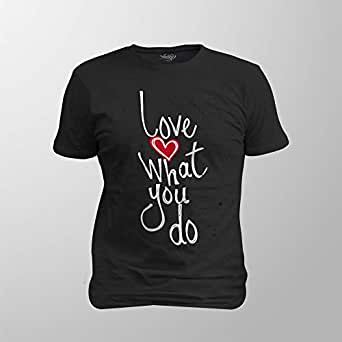 Antika Men T-Shirt Love To Do, Black, S