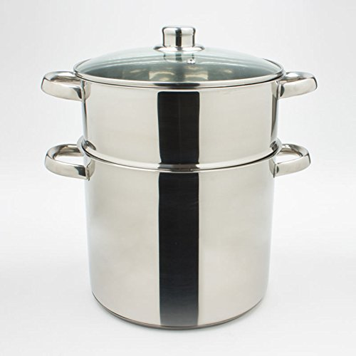 Table Passion Stainless Steel Couscous Steamer 28 cm Diameter 15 L