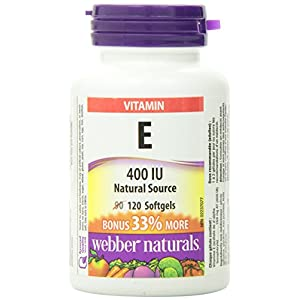 Webber Naturals Vitamin E Natural Source Softgel, 400 IU