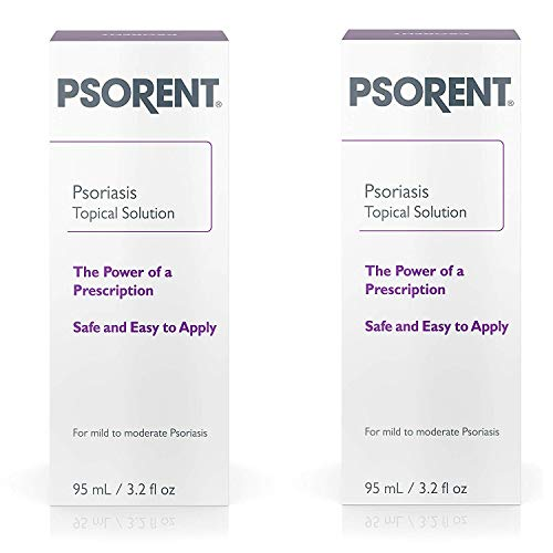 Psorent Psoriasis Topical Solution, Over the Counter Psoriasis Treatment, 3.2 fl. oz (2 Pack) (Best Over The Counter Deep Conditioner)