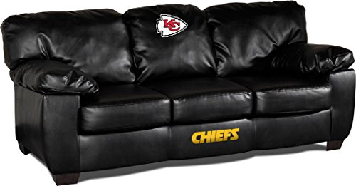 Imperial Officially Licensed NFL Furniture: Classic Leather Sofa/Couch, Kansas  City Chiefs