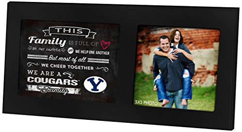 "KH Sports Fan 16""x8"" Brigham Young Cougars Family Cheer Black Single Collage Photo Frame"
