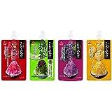 井村屋 かき氷シロップ 「こだわりの氷みつ」 4種セット (いちご・抹茶・ぶどう・マンゴー) 各150g