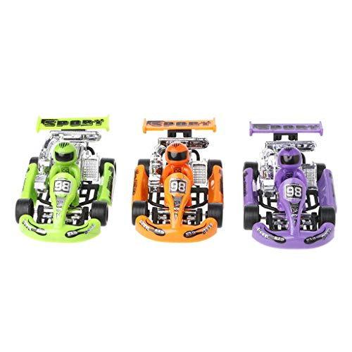 JAGENIE Alloy car Model Go-Kart Racing Game Sport Vehicle Plastic Motor Pull Back Toy,1PC,Random Delivery