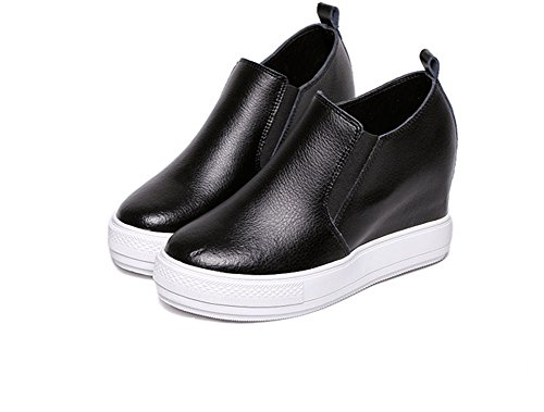 Urethane Black Ladola Toe Elastic Walking Closed Womens Shoes PP1I0U