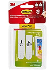 Command Small & Medium Picture Hanging Strips, Indoor Use (17203-ES)