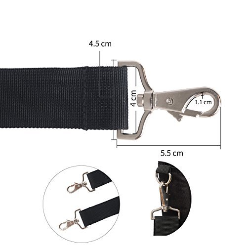 JAKAGO 150cm Universal Adjustable Shoulder Straps Replacement Bag Straps with Metal Swivel Hooks and Non-Slip Pad for Duffel Bag Laptop Briefcase Violin Bag Camera Travel Bag (Black) by JAKAGO (Image #7)