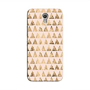 Cover It Up - Brown Pink Triangle Tile Zuk Z1 Hard Case