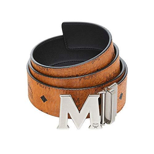 "MCM Claus 3D M Reversible Belt 1.75"" in Cognac - Signature MCM Belt With Iconic"