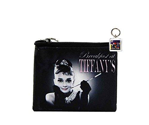 Audrey Hepburn Cute Coin Purse with NY Key Chain - Black Key Tiffany