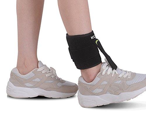 KONMED Adjustable Drop Foot Support AFO AFOs Brace Strap Elevator Poliomyelitis Hemiplegia Stroke