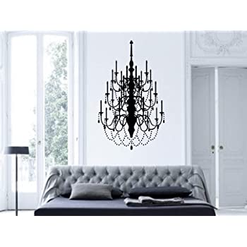Exceptional Fancy Chandelier Vinyl Wall Decal Art Decor Design Chandelier Luster Light  Living Room Bedroom Modern Mural