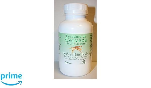Levadura de Cerveza 500 Mgrs 250 Comps NaturalDietHerb (Vitamina B): Amazon.es: Salud y cuidado personal