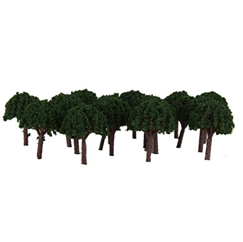 50 Light Green Trees Model Train Railroad Park Diorama for sale  Delivered anywhere in Canada