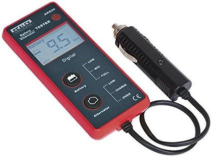 Sealey ak500batería y alternador comprobador de 12V–Pantalla LCD
