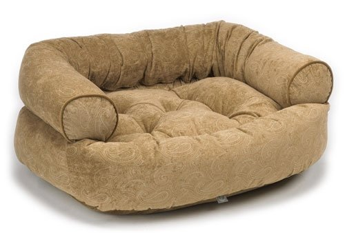 - Bowsers Paisley Cedar Microvelvett Double Donut Bed (X-Large)