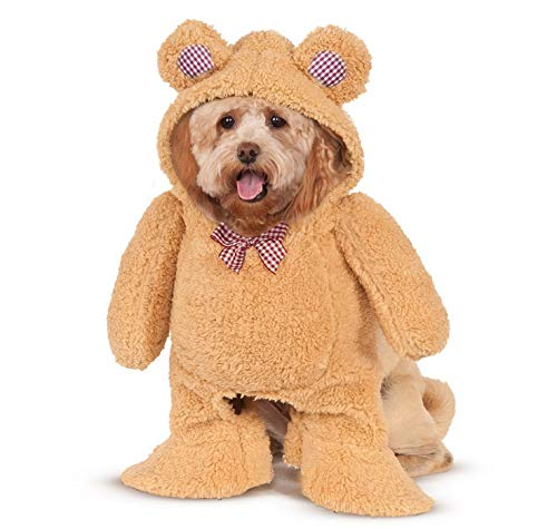 Walking Teddy Bear Pet Costume - -