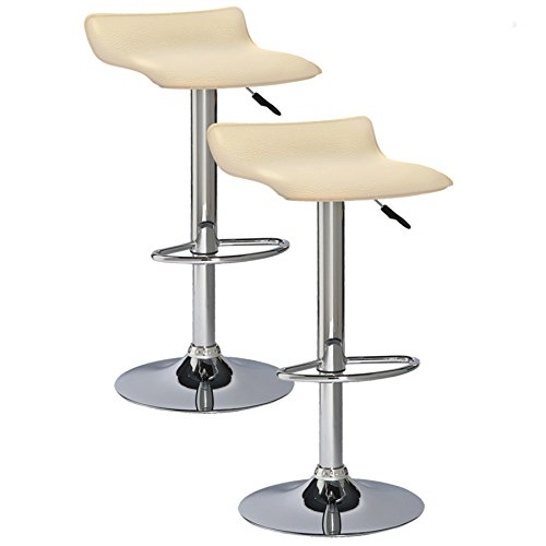 Leick 10042CR Favorite Finds Bar Stool Set of 2 Cream