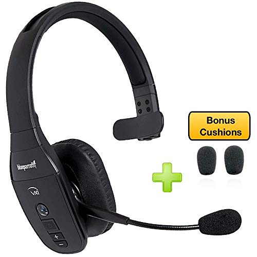 BlueParrott B450-XT Bluetooth Headset - 204010-AC Bonus Packs | Car Charger, Bonus Item Included | NFC Enabled - Compatible with Smartphones, Tablets, Android, iOS (Bonus Cushions)