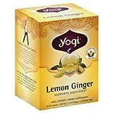 YOGI TEAS - TEA LEMON GINGER ORGANIC (16 bags - Pack of 6)