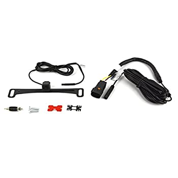 Image of Car Safety & Security Brandmotion 9002-7443 Dual Mount License Plate Mounted Backup Camera w/Factory Tailgate Harness for 2013-2016 Ram Trucks