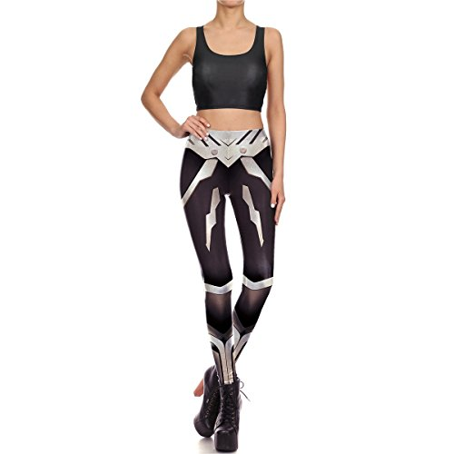 Mosszra Black Metal Armor Digital Print Fashion Tank Crop Top & Pants Sets