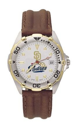 San Diego Padres MLB All Star Watch with Leather Band - Men