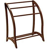 Winsome Wood Blanket Rack, Antique Walnut