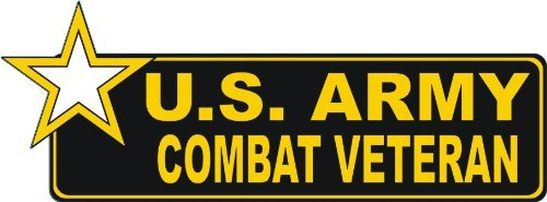 - United States Army Combat Veteran Bumper Sticker Decal 6