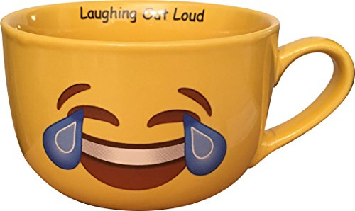 Cry Laugh out Loud Eyes Emoji Coffee Mug XL
