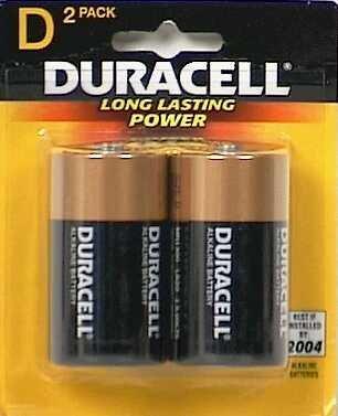 Duracell Coppertop D Alkaline Batteries 2 Each (Pack of 18)
