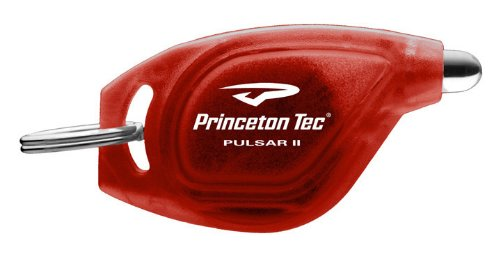 Princeton Tec SP-1-RD Princeton Tec Pulsar II White LED Keylight Translucent Red (Tec Translucent Flashlight)
