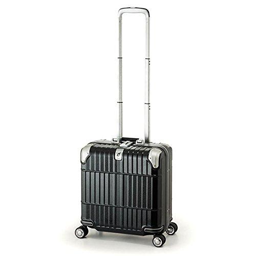 スーツケース 国内線機内持込可 | A.L.I (アジアラゲージ) departure (ディパーチャー) HD-509-16 フレーム B06Y554TRB レザーマットブラック レザーマットブラック