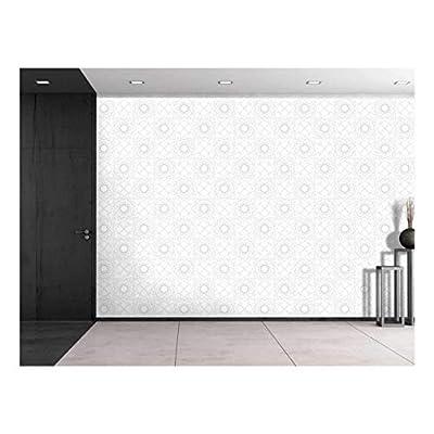 Large Wall Mural - Geometric Seamless Pattern | Self-Adhesive Vinyl Wallpaper/Removable Modern Decorating Wall Art - 100