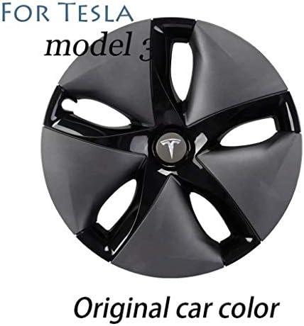 Tesla MODEL 3、オリジナル車色用の修正された装飾的な18インチハブキャップアクセサリーハブキャップ