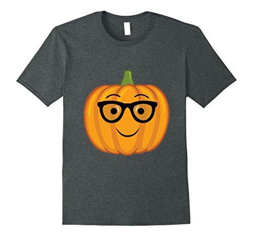 Mens Nerdy Pumpkin Emoji T Shirt