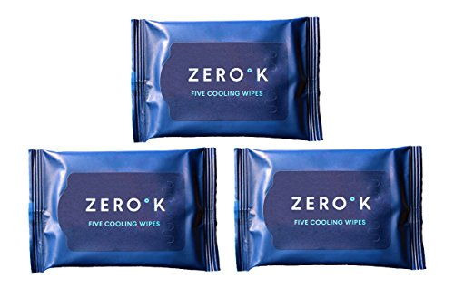 Zero K - Cooling Effect Full Body Wet Wipes - Great for Sports or Gym, Traveling, Hiking, Camping, or In the Car....