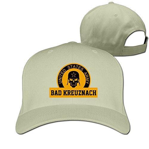 [US Army Bad Kreuznach Soldier Skull Baseball Cap Natural] (Betsy Ross Hat)
