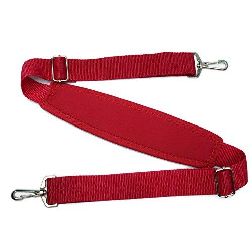 Padded Camera Shoulder Strap (Meffort Inc Laptop / Camera Shoulder Strap Adjustable Wide Soft Padded with Metal Hook - Red)