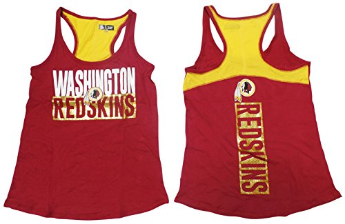 Washington Redskins Women's Glitter Racer Back Tank Top - Tank Redskins Washington