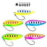 FISHINGGHOST® Trout Spoon Set - Lumen 5g, Trout Lures, Trout Spoons, Trout Blinkers for Fishing, Trout Lures for Trout, Char and Perch Fishing - Perfect for Spin Fishing (5X)