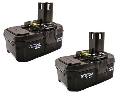 Ryobi P105 18-volt One+ Lithium Ion High Capacity Battery 2 Pack