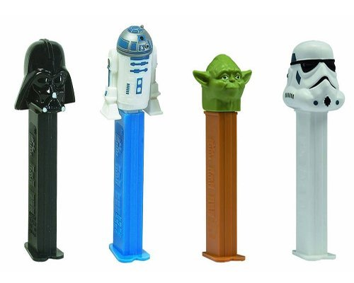 PEZ Candy Star Wars Random Assortment of Pez Dispensers With 2 Rolls of Refills Each (Pack of 12) ()