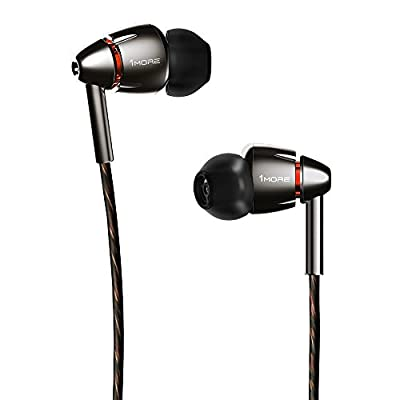 1MORE Quad Driver In-Ear Headphones (Earphones/Earbuds) with Apple iOS and Android Compatible Microphone and Remote (Titanium)