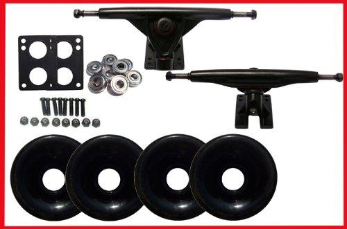 LONGBOARD SKATEBOARD 180 TRUCKS 70mm black WHEELS Bearing KIT(scs-ltkcom-70bk) by Unknown   B004VMWJUW